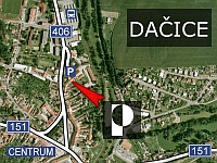 Map of Dačice